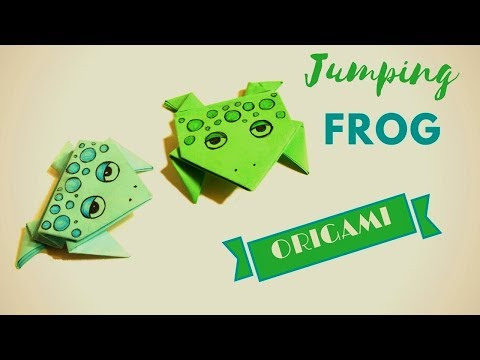 Origami jumping Frog  How To Make a Paper Jumping Frog TUTORIAL!