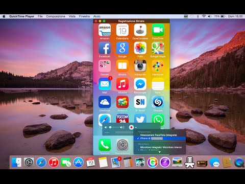 COME REGISTRARE LO SCHERMO DELL'IPHONE CON IOS 9!!! (QuickTime Player)