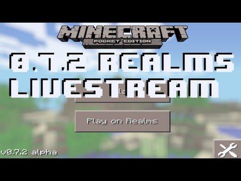 Minecraft Pocket Edition 0.7.2 Pocket Mines Livestream (Part 1)