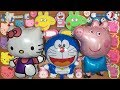 PEPPA PIG Hello Kitty amp Doraemon Slime Mixing Random Things Into Slime Satisfying Slime Videos