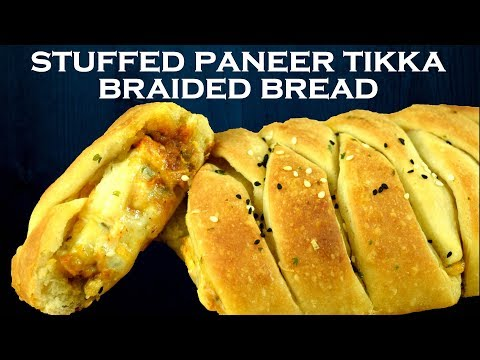 Paneer Tikka Stuffed Garlic Braided Bread| Stuffed Braided Garlic Bread| Tasty Snack| Yummylicious