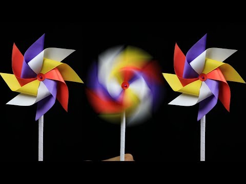 How to make a Paper Windmill for Kids: Windmill Making With Paper (very easy)