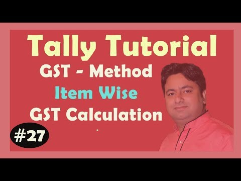 GST Part 3 PDF - ITEM wise Tax calculation in Tally ERP9 Advance Tutorial in Hindi By Manoj Sir