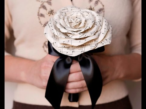 Paper Flower Tutorial: Make Paper Roses Out of Sheet Music!