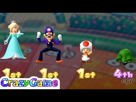 Mario Party 10 Coin Challenge - Spike vs Rosalina vs Waluigi vs Toad Gameplay | CRAZYGAMINGHUB