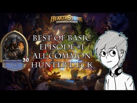 Hearthstone Beta:Best of Basic Episode One-All Common Hunter Deck
