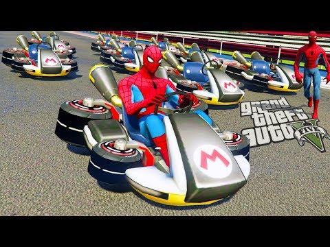 GTA V - Race Mario Kart (GTA 5 Mario Kart Mods)