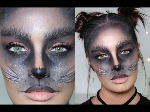 Cute Black Cat DIY Halloween Costume/Makeup Tutorial