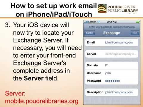 How to set up your work email on an iPhone/iPad/iTouch
