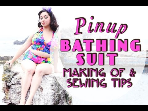 McCalls 7168 Pinup Bathing Suit Making Of and Sewing Tips