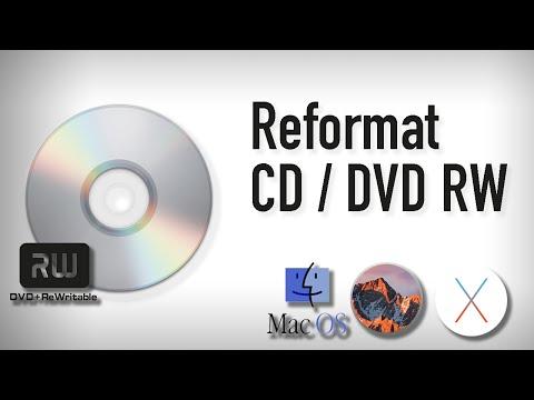 Erase and Rewrite a CD RW or DVD RW Using Mac 2016