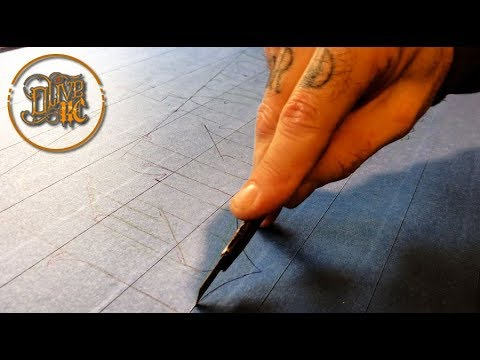 CUSTOMIZED CUTTING MAT -  Hand Letters