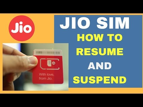How to Easily SUSPEND or RESUME JIO 4G SIM card Services