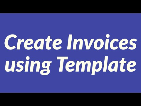 Create Invoices using Template with User Form in Excel