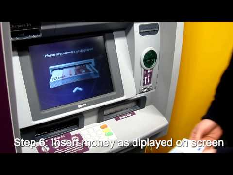 How to lodge money in a Cash and Cheque lodgment ATM