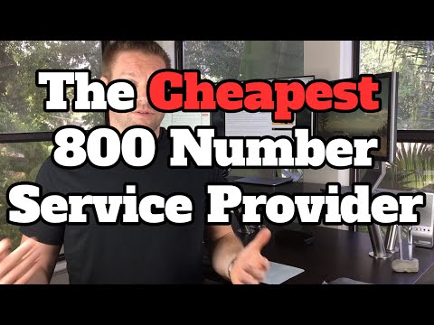 Cheapest 800 Number Provider - No Contract - Perfect For Small Business