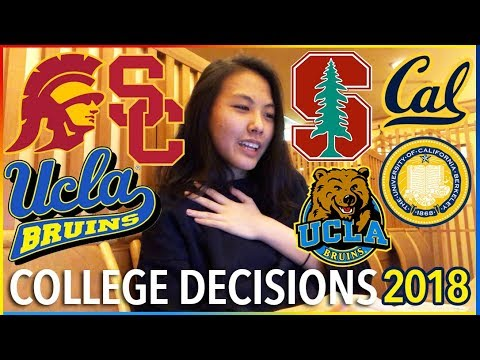 😱COLLEGE DECISION REACTIONS 2018: Stanford, UCLA, USC, Berkeley (CALIFORNIA SCHOOLS) | Katie Tracy