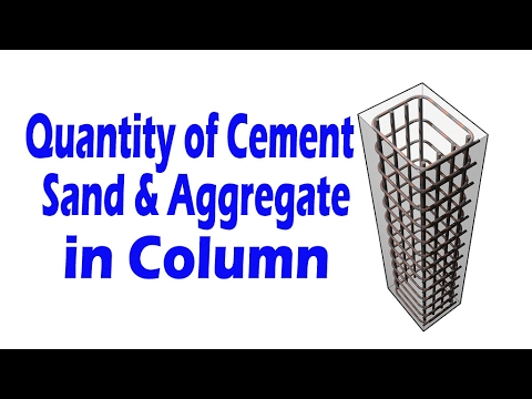 How to Calculate Quantity for Cement , Sand & Aggregate in Column