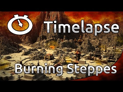 Minecraft Timelapse - RPG map -Burning Steppes (WoW) [Full HD 1080p]