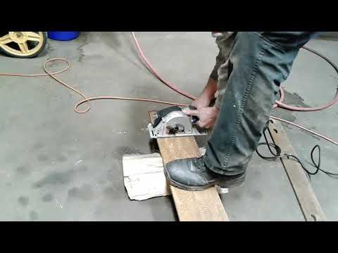 Eastwood mini metal cutting saw versus half inch thick steel plate