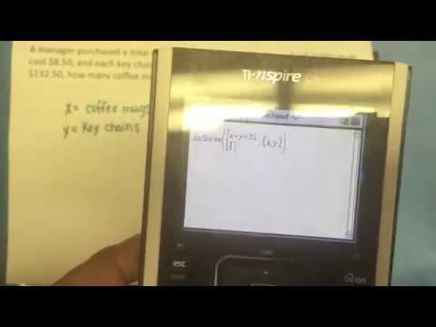 A.5C Systems of Equations with the TI-Nspire