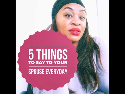 5 Things to Say to Your Spouse Everyday