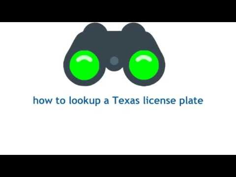 Texas License Plate Lookup Promo Video