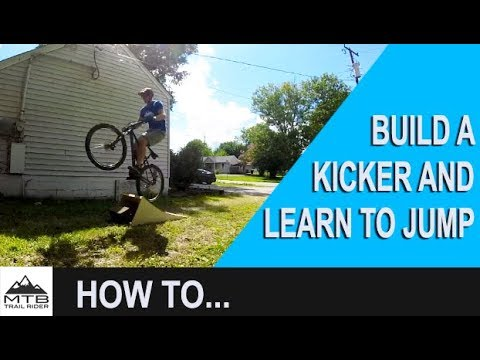 HOW TO BUILD A BIKE RAMP // Beginner Learning to Jump // MTB Trail Rider