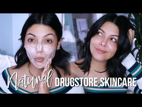 HOW TO GET GLOWING SKIN: NATURAL ORGANIC DRUGSTORE SKINCARE ROUTINE + HAUL  | SCCASTANEDA