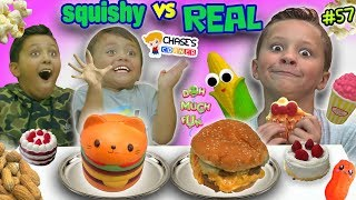 SQUISHY FOOD vs REAL FOOD Challenge! Chase