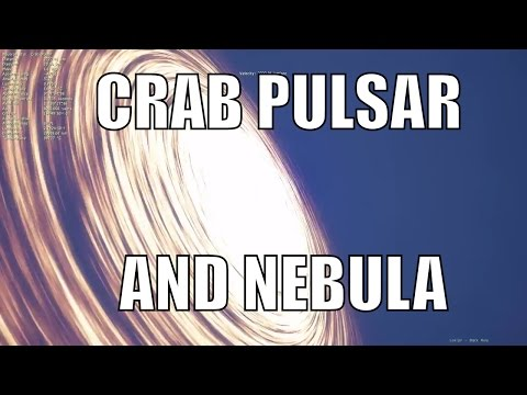 Crab Pulsar and Crab Nebula - Universe Sandbox² and Space Engine