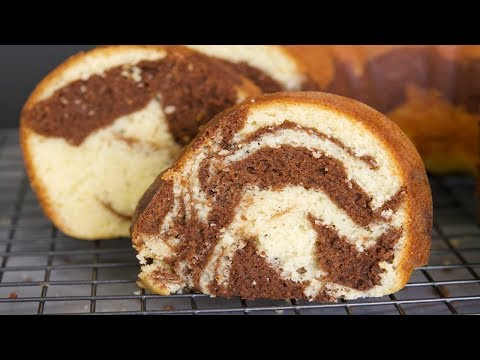 Marble Cake Recipe   How Make A Marble Cake   SyS