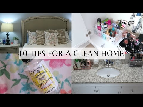 10 Tips For a Clean Home | Erica Lee