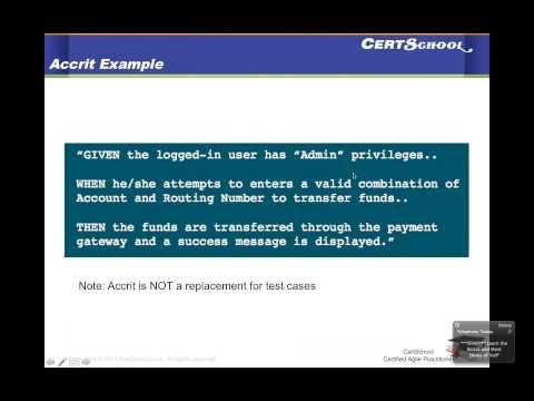 Agile Methodology Episode 5 -- Acceptance Criteria