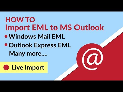 How to Import EML Files to Microsoft Outlook PST?