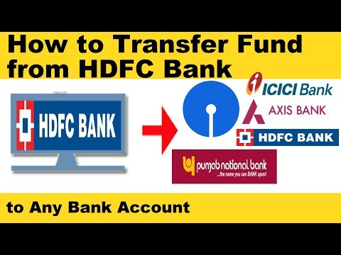 How to Transfer Money From HDFC to Other Bank Accounts Online