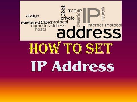 How to Set IP Address windows