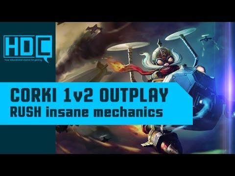 CRAZY Corki 1v2 Outplay! ~MECHANICS~ RUSH Streaming League of Legends