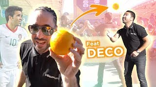 THIS EX FOOTBALL STAR CAN FREESTYLE WITH AN ORANGE ! Uefa Nations league experience with HISENSE