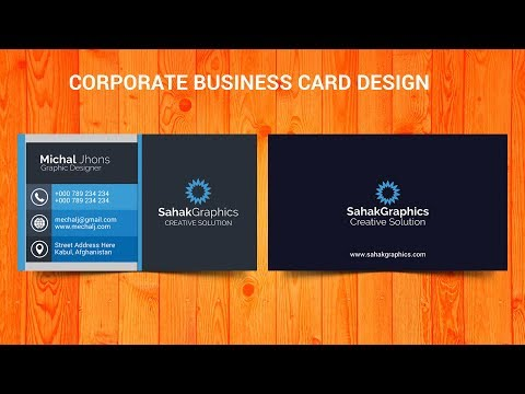 Photoshop Tutorial   Corporate Business Card Design