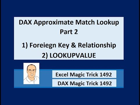 DAX Approximate Match Lookup Part 2: Foreign Key & Relationship or LOOKUPVALUE? EMT1492