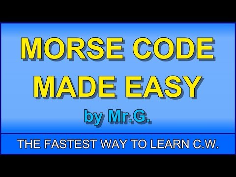 Learn Morse Code in ONE HOUR with the G-SYSTEM! :D