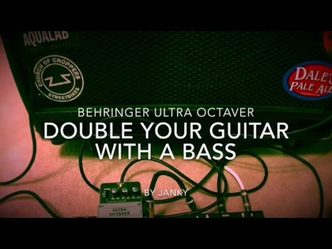 Double your guitar as a bass with an Octave pedal and A/B Pedal