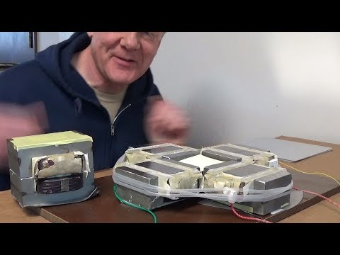 Eddy current levitation using microwave oven transformers