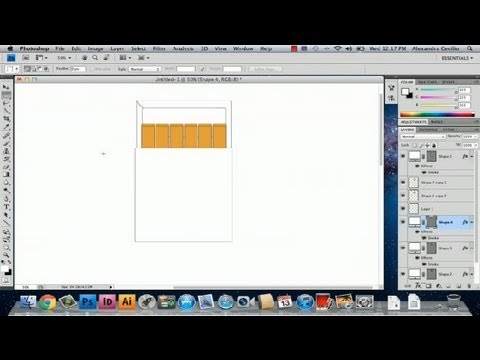 How to Draw a Pack of Cigarettes in Photoshop : Photoshop Tutorials
