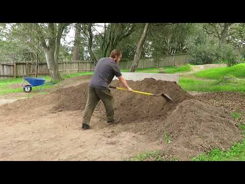 BUILDING A DIRT QUARTER PIPE IN A PUMP TRACK