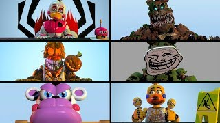 Every FNAF 1 Character in a nutshell animated (Freddy, Foxy, Chica & Bonnie)