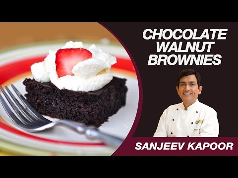 Chocolate Walnut Brownie (Eggless) Recipe by Masterchef Sanjeev Kapoor