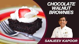Chocolate Walnut Brownie (Eggless) Recipe by Masterchef Sanjeev Kapoor