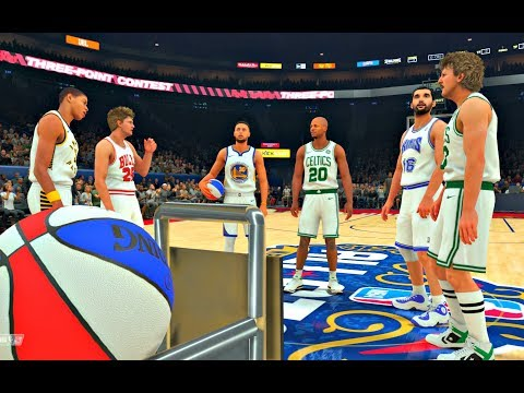 NBA 2K18: The Greatest 3 Point Contest of All Time! Curry, Bird, Allen, Stojakovic, Miller, Kerr!